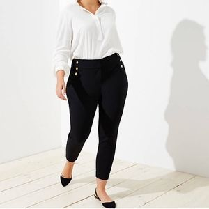 LOFT Plus Skinny Sailor Pants Black  Size 24